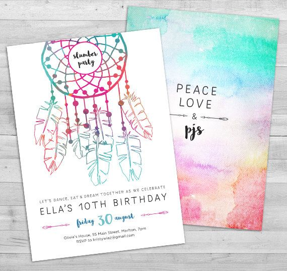 25 best ideas about Slumber party invitations – Party Invitations Pinterest