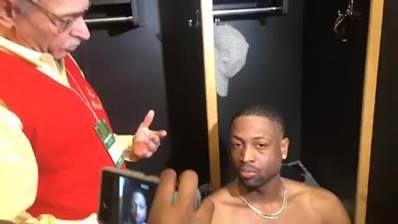 Dwyane Wade live from the locker room