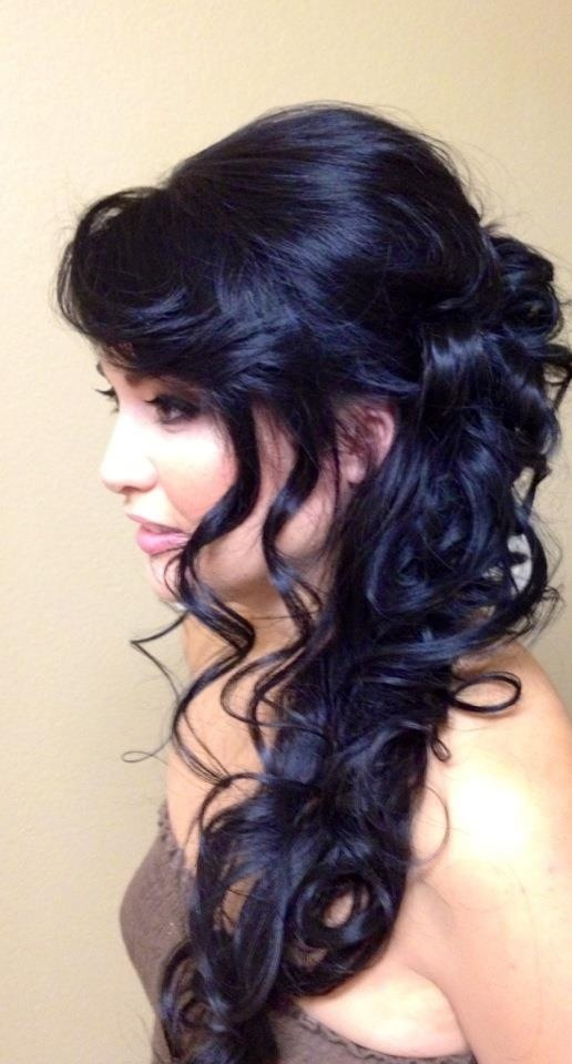 Romantic And semi formal Hair by Parie For your next hair appointment please call 949.701.9936
