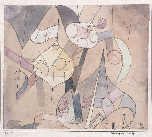 "igormaglica: "" Paul Klee (1879-1940), Fata Morgana at Sea, 1918. watercolour and pen on paper on cardboard """