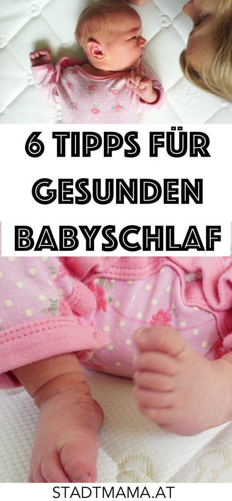 Ab wann schlafen Babys durch? Keine Ahnung. Meine 6 Tipps für gesunden Babyschlaf bringen sie vermutlic nicht zum durchschlafen, sorgen aber für einen besseren und gesünderen Schlaf. (Werbung)