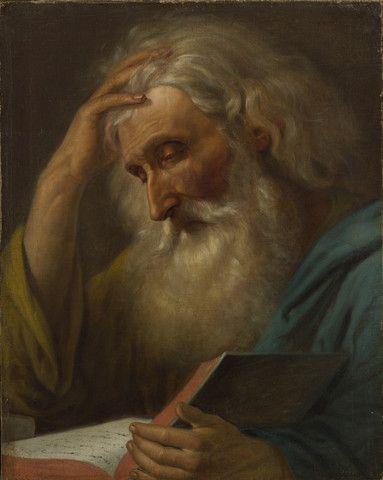 Mişu Popp - Călugăr citind/Monk reading - MyRomanianArt