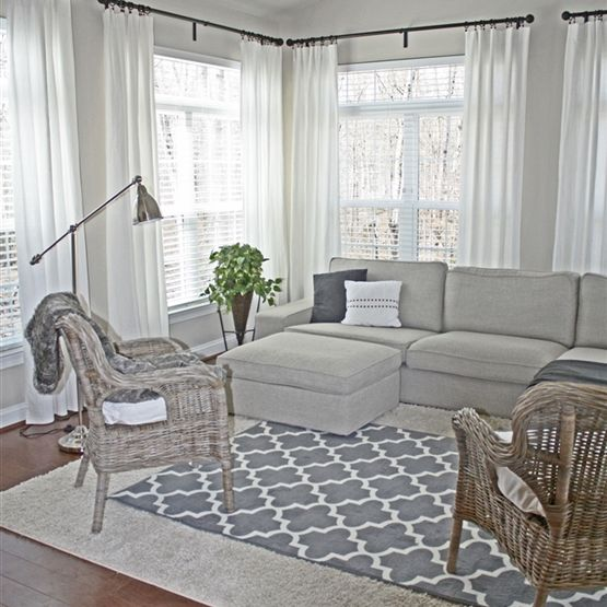 Sunroom With Kivik Couch Byholma Chairs Ritva Curtains