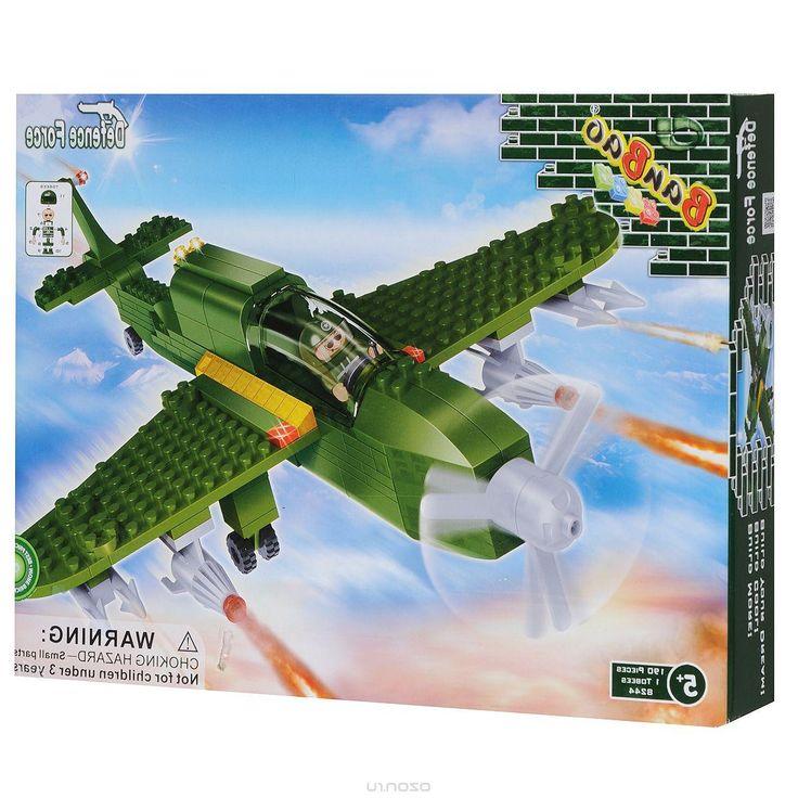 BanBao Конструктор Военный самолет цвет зеленый