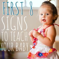 Sign language for babies - the first 8 signs to teach your baby!