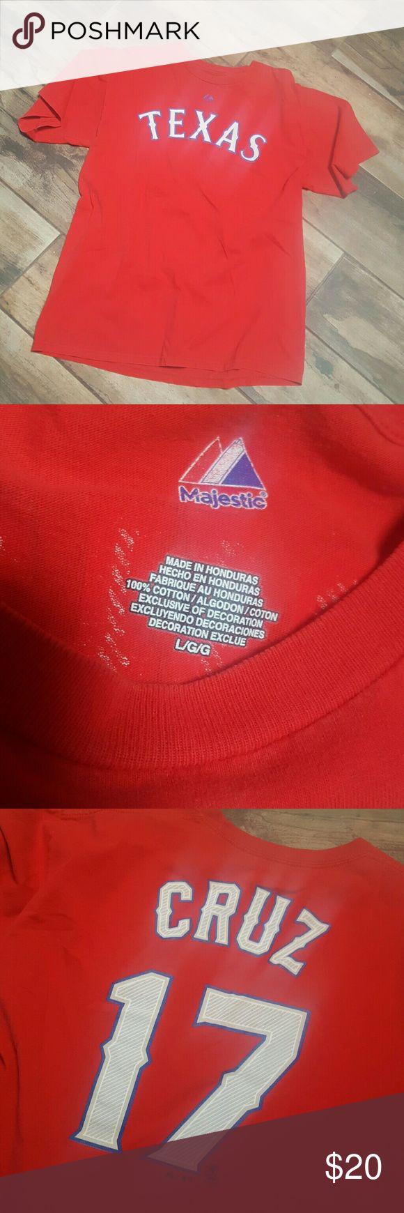 Texas Rangers tshirt #17 Rangers Red Tshirt Tops Tees - Short Sleeve