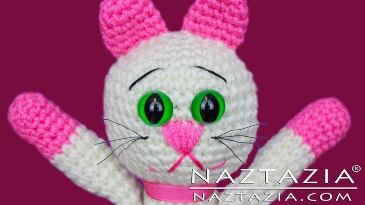 DIY Learn How to Crochet Kitty Kitten Cat Toy Amigurumi Stuffed Animal Pet with YouTube Tutorial Video by Naztazia