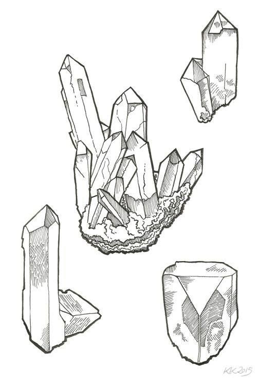 how to draw crystals - Google Search More