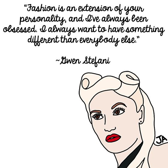 Gwen Stefani of No Doubt Still Just a Girl, In Illustrated Form: http://blogs.ocweekly.com/heardmentality/2014/05/gwen_stefani_talks_about_being_a_girl_in_illustrated_form.php Illustrations by Jena Ardell for OC Weekly Music.