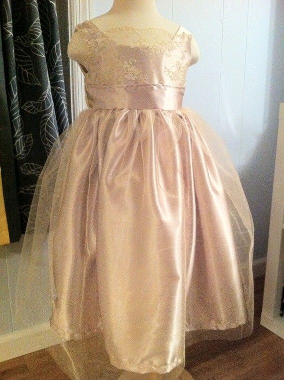 Size 714  Satin and Lace Formal Dress by Mousebeecouture on Etsy, $150.00