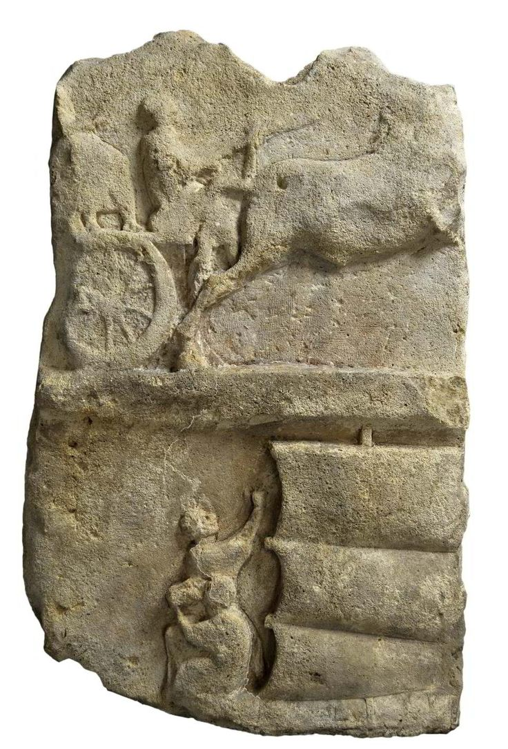 Relief mit Wagen und Schiff  [Rheinisches Landesmuseum Trier]