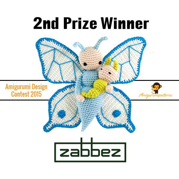 Butterfly Bree and Caterpillar Calin crochet pattern