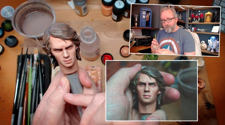 Star Wars 1/6 scale Anakin Skywalker action figure repaint custom - Side...