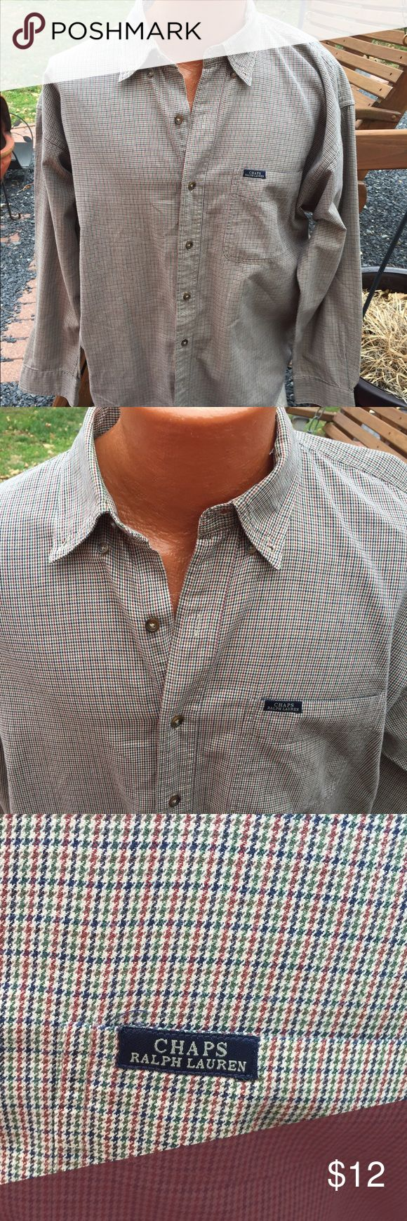 Chaps Ralph Lauren Mens Button Front Shirt Size L Size large. Super gently preowned Chaps Shirts Casual Button Down Shirts