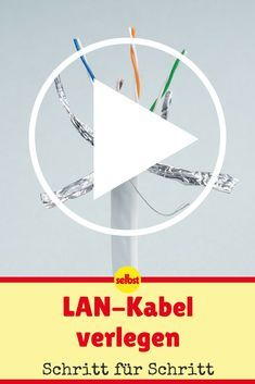 Lay LAN cable