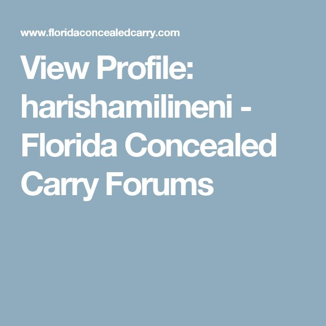 Best 25+ Florida concealed carry ideas on Pinterest | Concealed ...