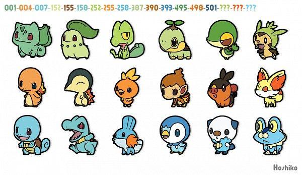 Tags: Anime, Pokémon, Starters, Bulbasaur, charmander, squirtle, chikorita, cyndaquil, totodile, treecko, torchic, mudkip, turtwig, chimchar, piplup, snivy, tepig, oshawott, chespin, fennekin, froakie