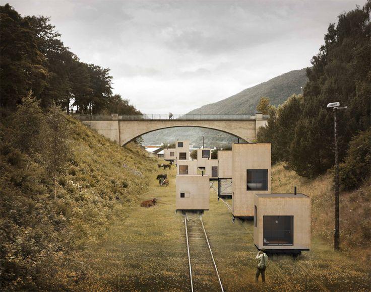 Une ville sur rails en Norvège