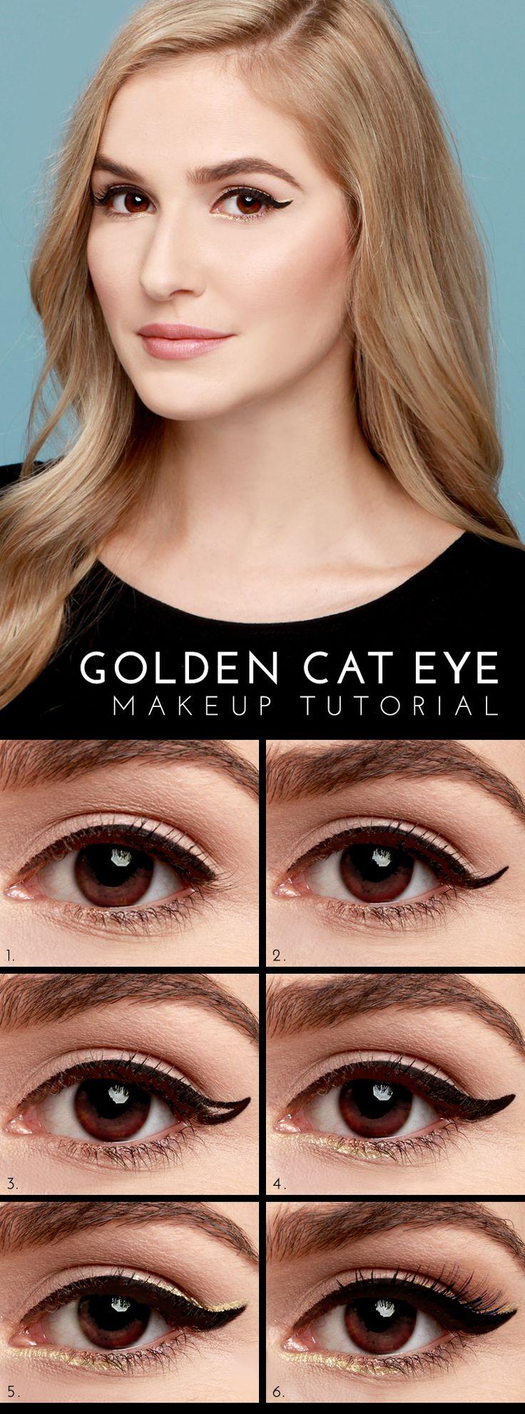 Lulus.com: Golden Cat Eye Tutorial