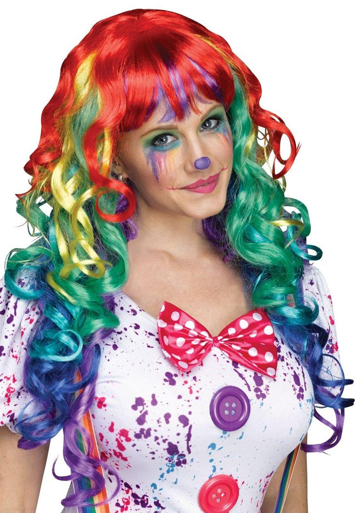 Curly Rainbow Costume Wig from Buycostumes.com