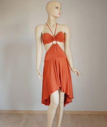 Orange Latin Dance Dress (SALE) http://www.butambenlik.com/latin-dans-elbisesi