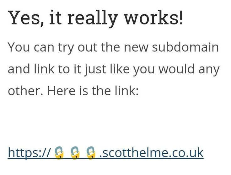 I created a new subdomain for my blog! https://.scotthelme.co.uk