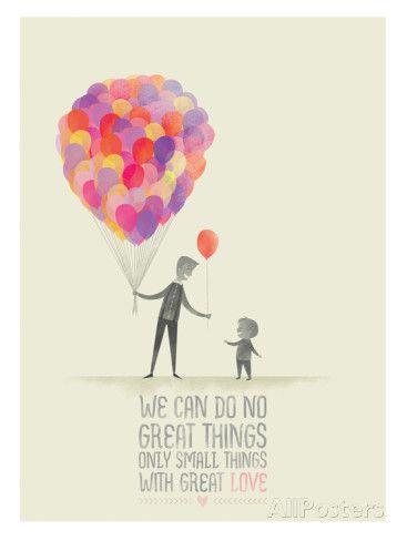 Small Things. Great Love. Giclée-Druck von Ciara Panacchia bei AllPosters.de
