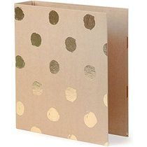 Paperchase Big spot kraft lever arch file - Amazon