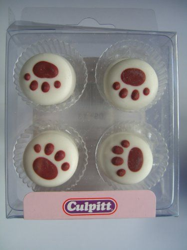 12 PAWPRINTS Sugar Cake Decorations (Pipings)Cupcake Toppers - Pack of piped sugardecs. Great for cupcakes amd general cake decorating.  Approx 2.5 x 2cm.  Ingredients-confectionery sugar, cornstarch, egg albumen, colours-E100, E120 & E163.  - http://irishcakesupplies.com/wp-content/uploads/2014/01/41WYGhuUooL.jpg - #PipingsCupcake, #12, #Cake, #Decorations, #PAWPRINTS, #Sugar, #Toppers  - http://wp.me/p2Sdif-4Xz