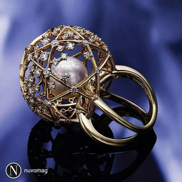 repost from @nuvomag #Mikimoto World of Creativity ring with a 12 mm white South Sea cultured pearl and diamonds set in 18-karat yellow gold. See more prized possessions on NUVOmagazine.com (click the link in profile).