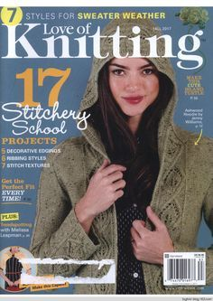 Love of Knitting Fall 2017 - p.9 and 61 - long sleeve cardis
