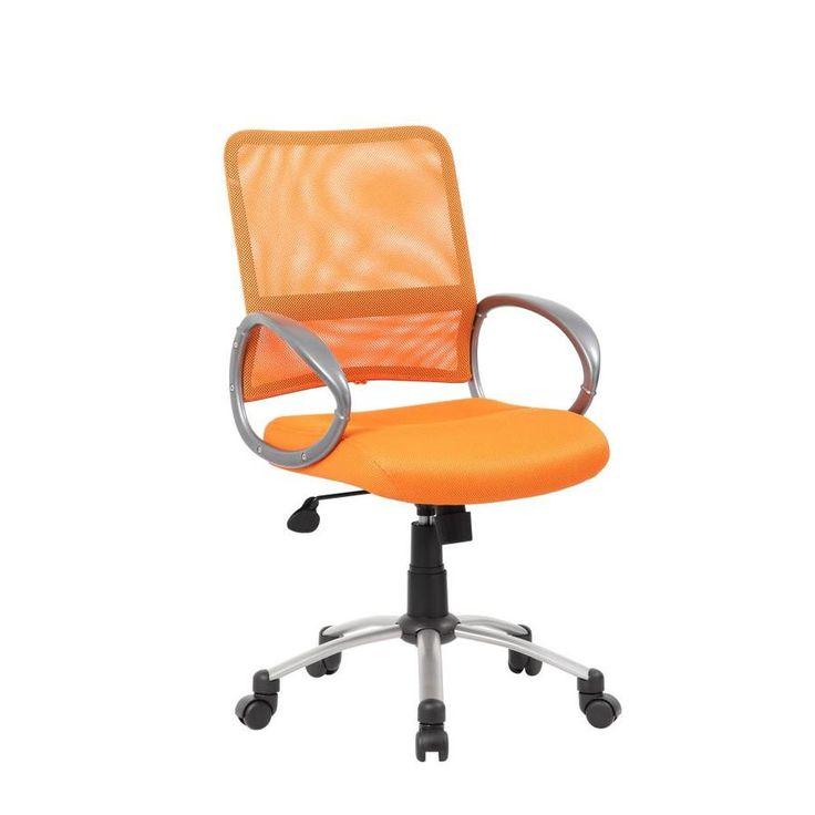 Boss office products orange contemporary ergonomic