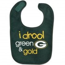 "Green Bay Packers ""I Drool Green & Gold"" Bib"