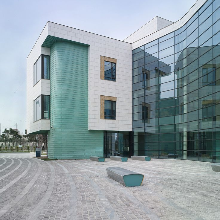 Azerbaijan Diplomatic Academy, Shows Polished Italian Marble Floors Inside,  Granite Traditional Cobbles In The Courtyard And Alabaster To Screen Thu2026