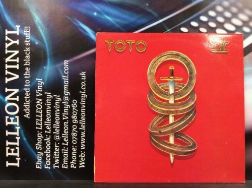 Toto IV LP Album Vinyl Record CBS85529 A1/B1 Pop 80's 'Africa' Music:Records:Albums/ LPs:Pop:1980s