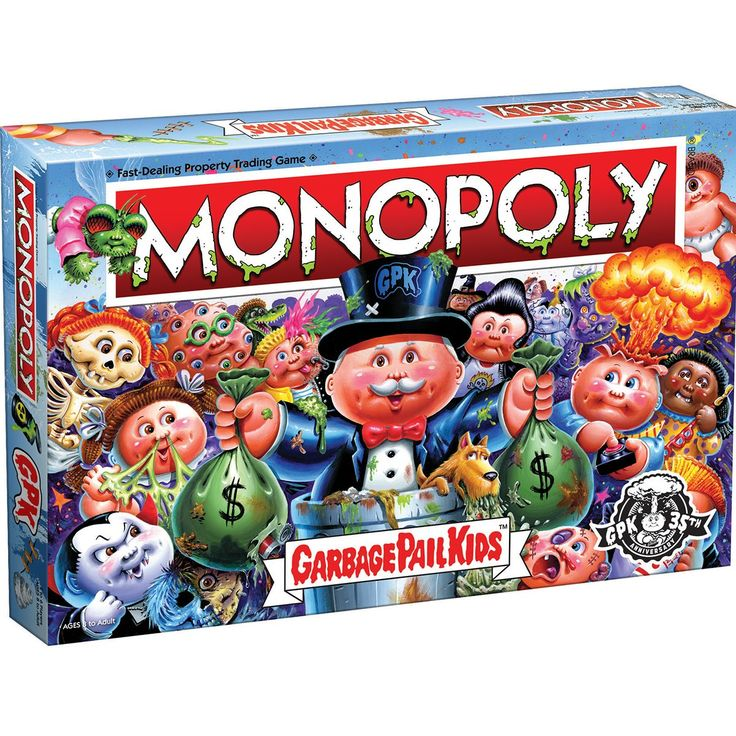 Garbage pail kids monopoly game entertainment earth in
