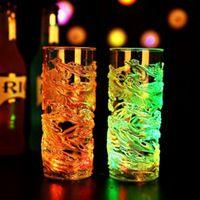 La explosión PROVOCÓ luminosa inducción de taza de agua de cristal colorido Dragón Chino color luminoso Nuevo Creativo de la Cerveza taza de jugo de vidrio