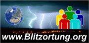 Blitze und Donner über Deutschland in Echtzeit orten.
