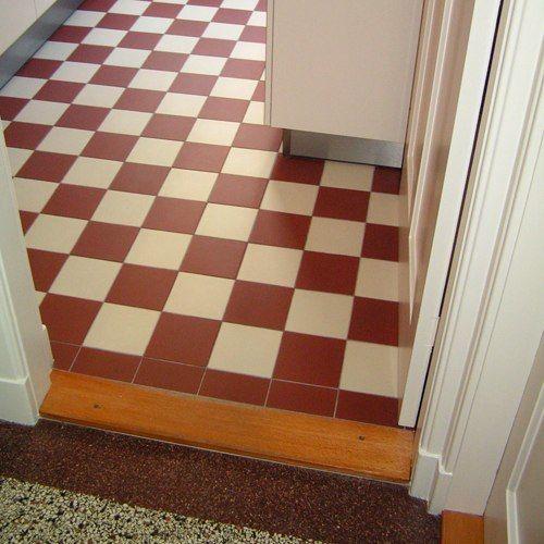 dambordvloer in combinatie met granito vloer | jaren 30 woning