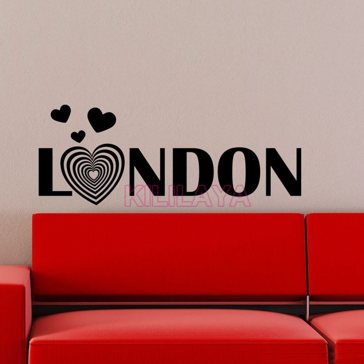 Aliexpress com buy sticker london romantic heart vinyl wall stickers home decor wall decals
