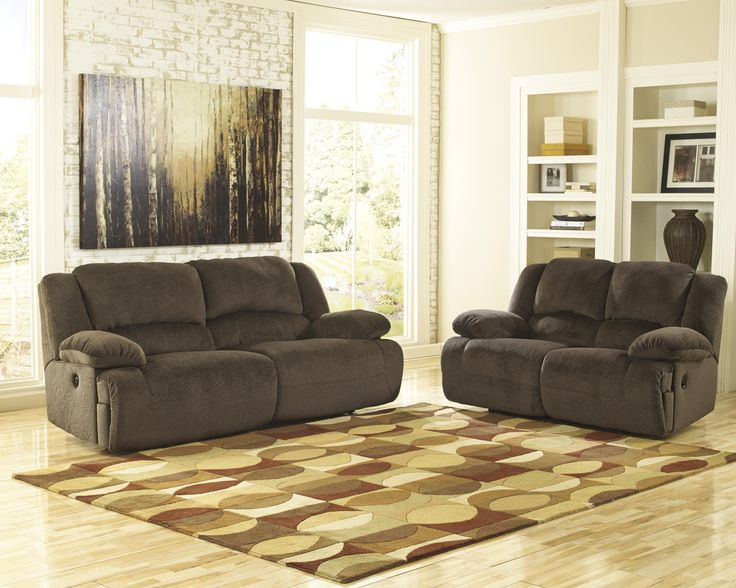 Shop For The Signature Design By Ashley Toletta   Chocolate 2 Seat  Reclining Power Sofa At AHFA   Your Furniture U0026 Mattress Store