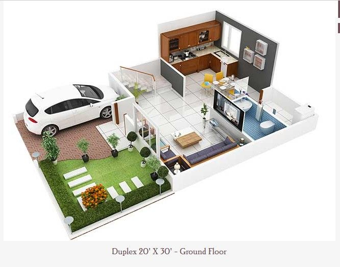 3d Duplex House Plans That Will Feed Your Mind House Plans House Floor Plans Duplex House Plans