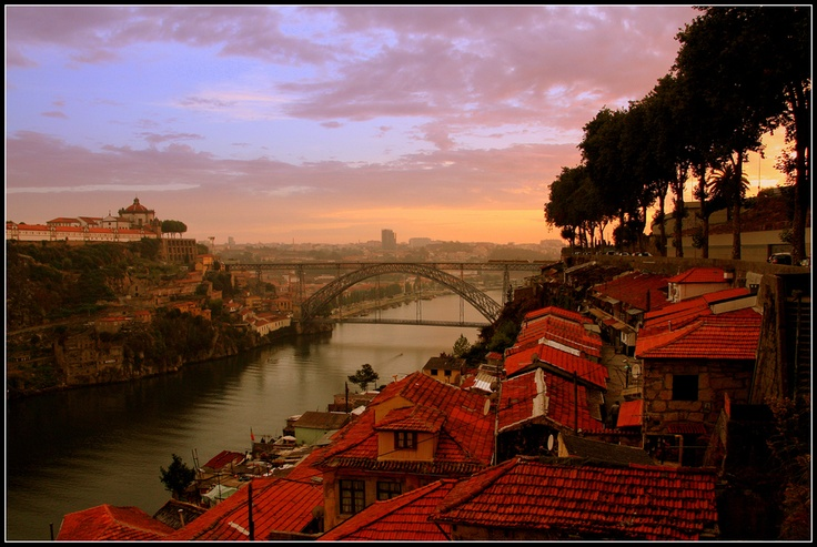 Ponte Dom Luis I over Rio Douro, linking Porto with Vila Nova de Gaia on two levels, Portugal by Martin Rosen  Porto, Portugal