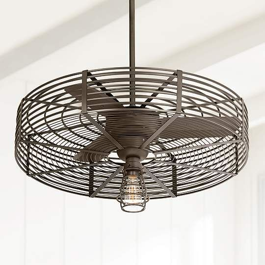 39 best caged ceiling fans images on pinterest caged ceiling fan vintage breeze 32 inch w 1 light bendlin cage ceiling fan aloadofball Image collections