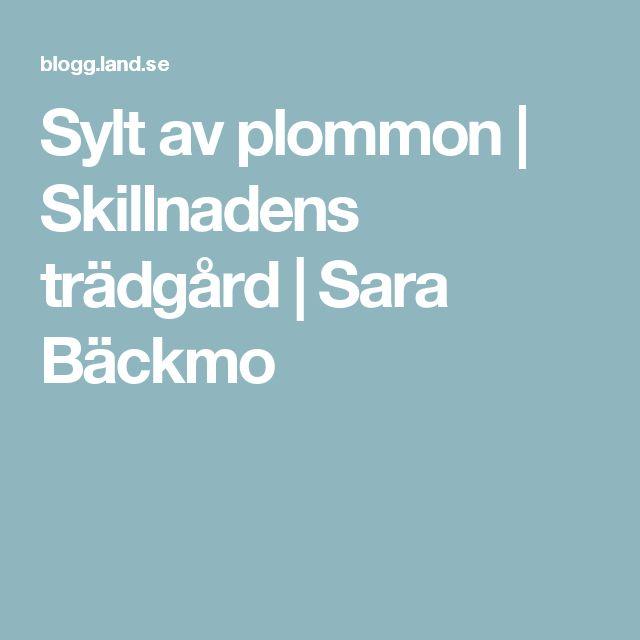 Sylt av plommon | Skillnadens trädgård | Sara Bäckmo