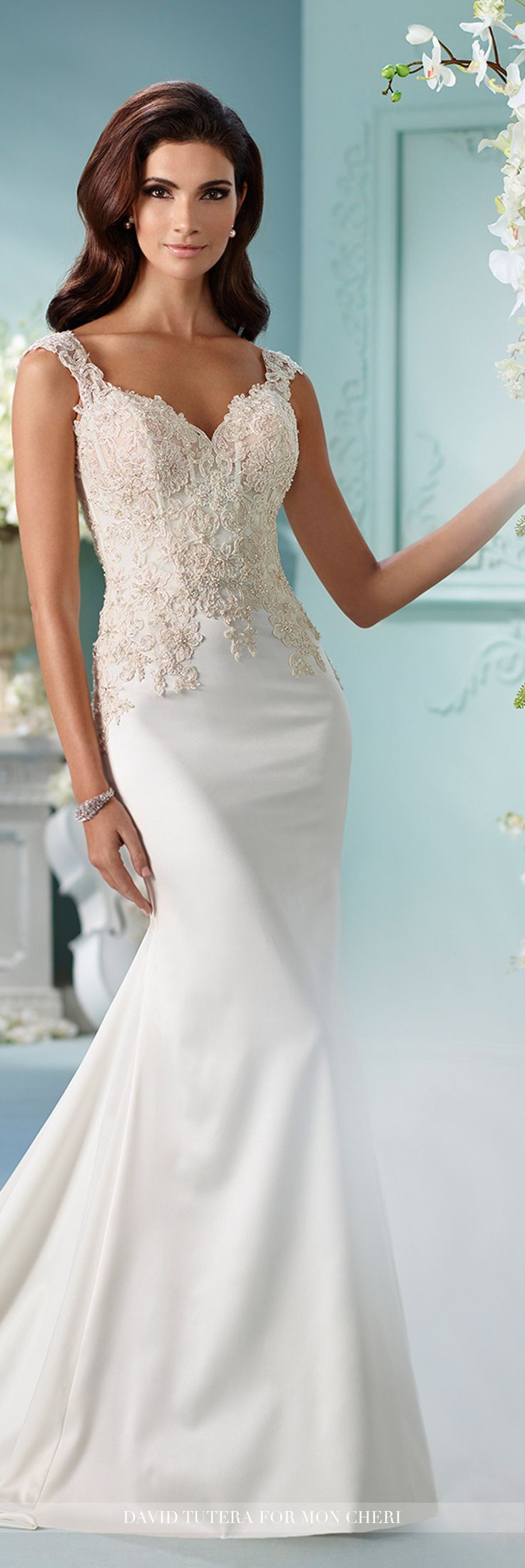 445 best Wedding Gowns images on Pinterest | Wedding frocks ...
