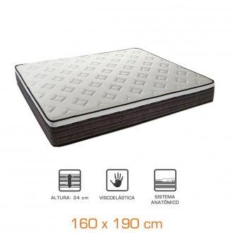 Colchón viscoelástico grafeno - topper Supreme - 160x190cm - altura +/- 24cm