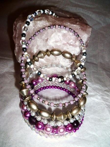 Purple rain memory bracelet.  see - http://undertherowantree.bigcartel.com/