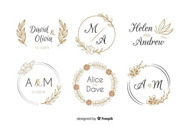 Baixe Colecao De Modelo De Logotipos De Monograma De Casamento Gratuitamente In 2020 Wedding Logo Monogram Monogram Wedding Wedding Logos