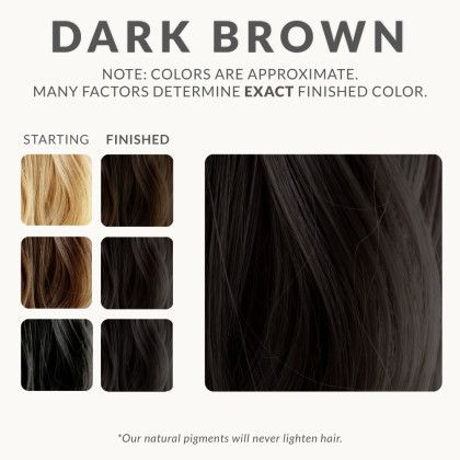 Dark Brown Henna Hair Dye – Henna Color Lab® – Henna Hair Dye